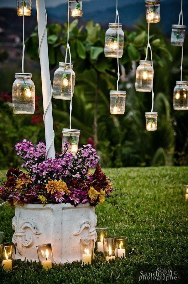 2. Easy DIY Mason Jar Lanterns