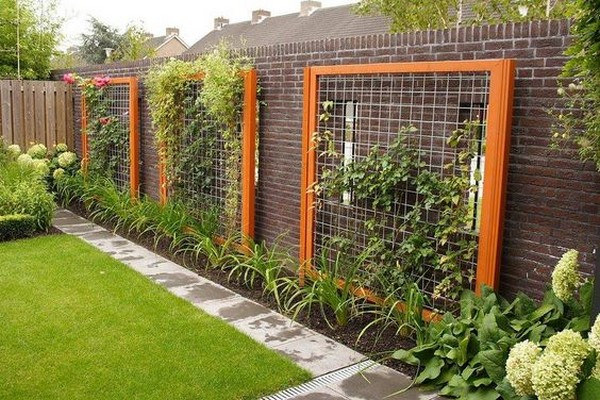 15 creative and easy diy trellis ideas for your garden the art in life - Gartenabgrenzungen aus stein ...