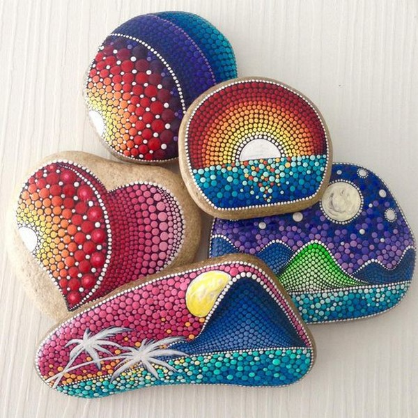 Painted Rock Design Ideas: 22 The Best Painted Stones Ideas That Will Raise Up Your