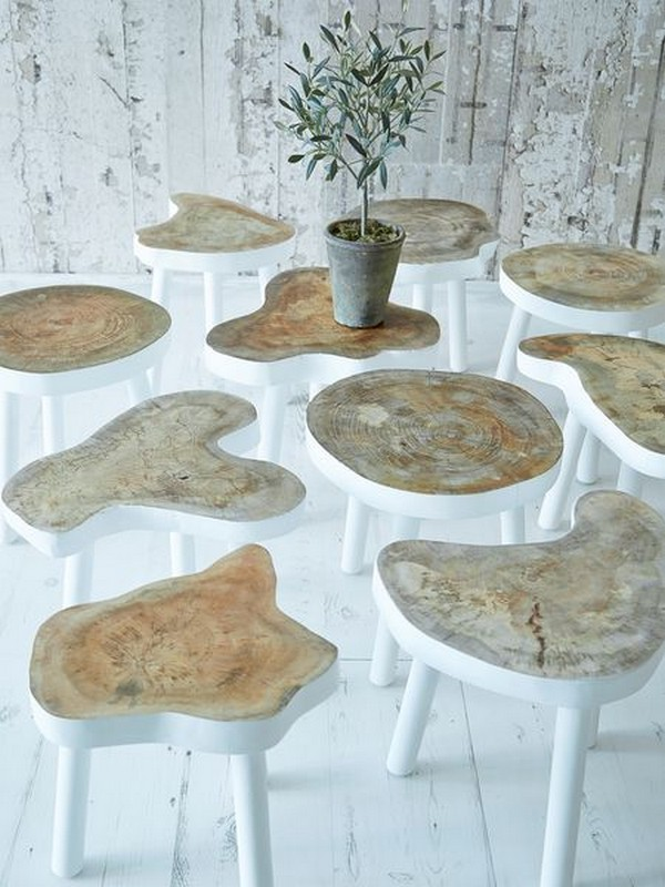 12 creative diy projects with tree stumps for your home for Tree stump table diy