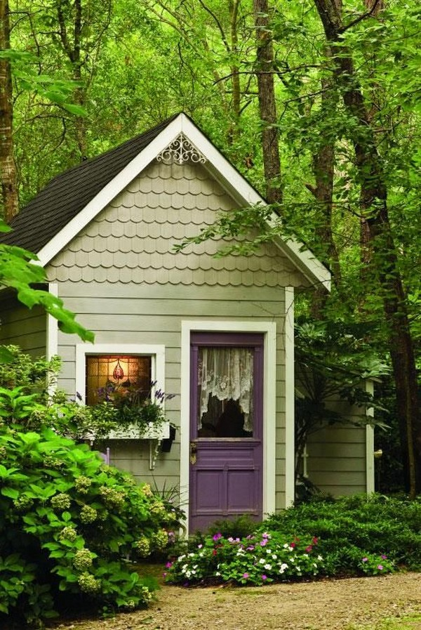 15 Whimsical Charming Gardens Shed Designs - The ART in LIFE