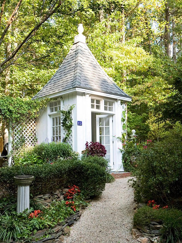 15 Whimsical Charming Gardens Shed Designs