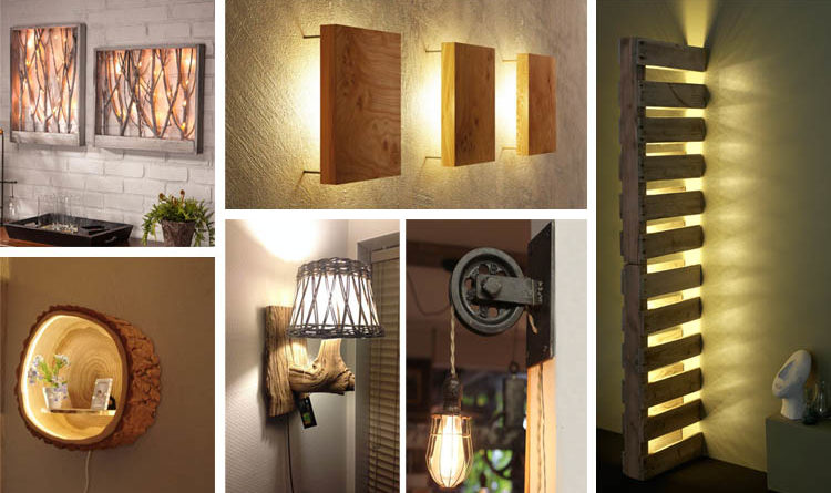 Cool Diy Wall Lamps : Cool and Creative DIY Wall Lamps That Will Light Up Your Home - The ART in LIFE
