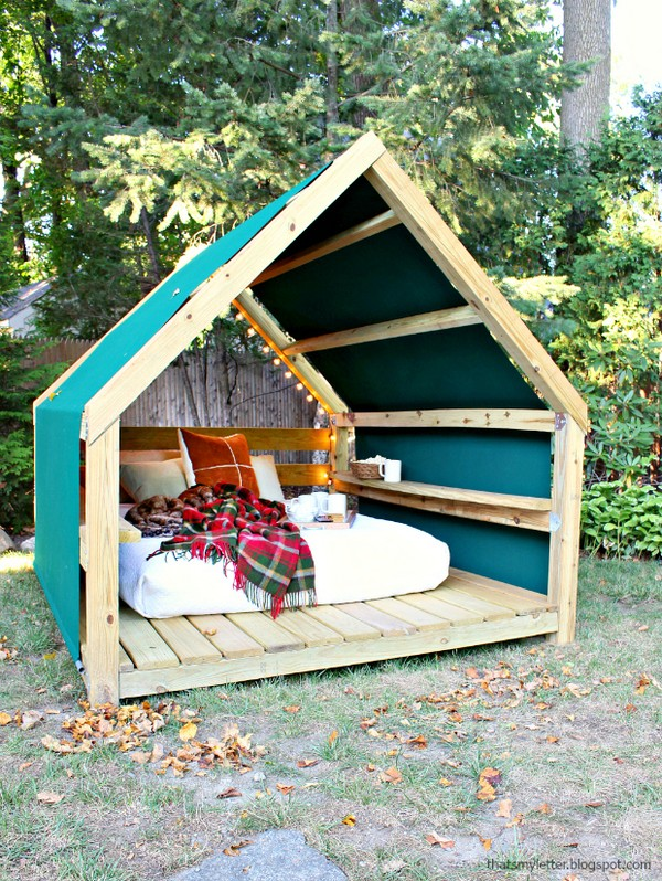 17 magnificent diy outdoor furniture design adding a dash for Outdoor cabana designs