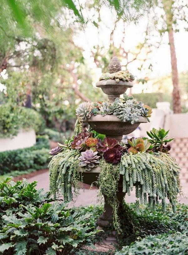 14 Great Ways To Turn Broken Fountains And Bird Baths Into
