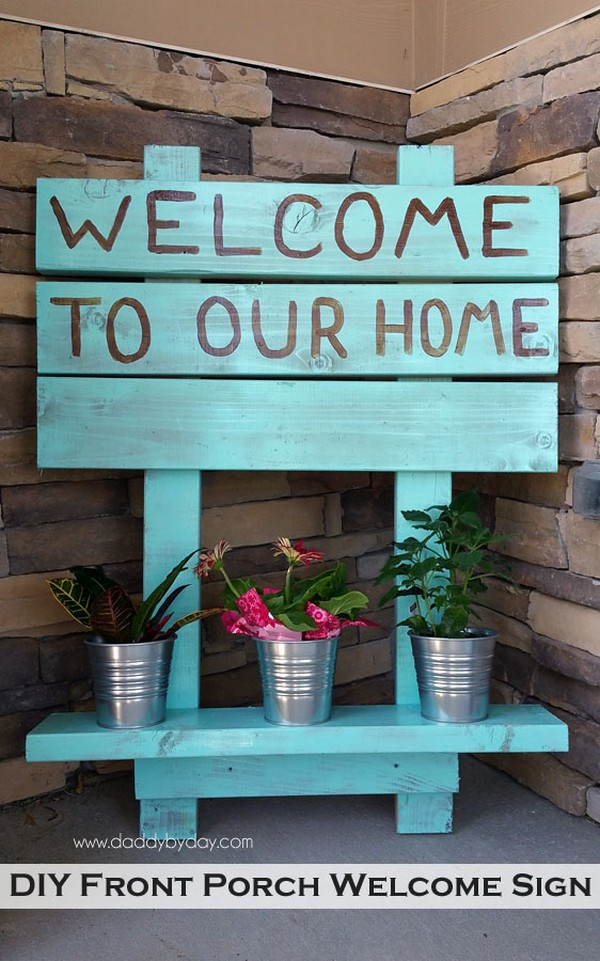 20 Easy Front Porch Diy Sign Ideas For Your Home The Art