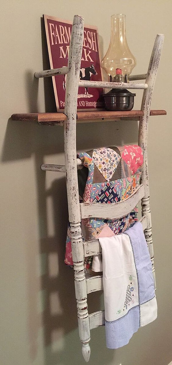 15 exciting repurposed old chair ideas you can make in a day the art in life. Black Bedroom Furniture Sets. Home Design Ideas