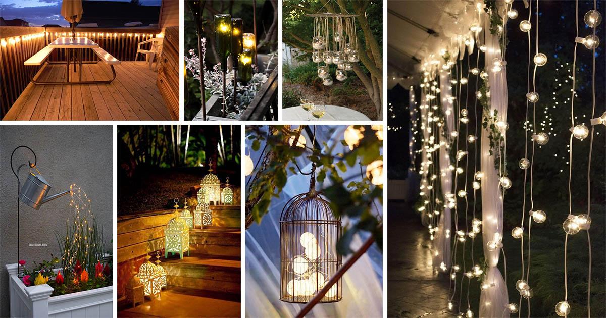 16 glowing outdoor lighting ideas to brighten up your - Creative lamp designs to brighten up your living space ...