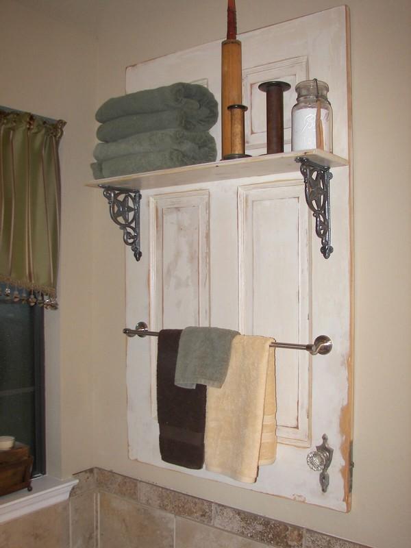 Powder Room Towel Rack And Display