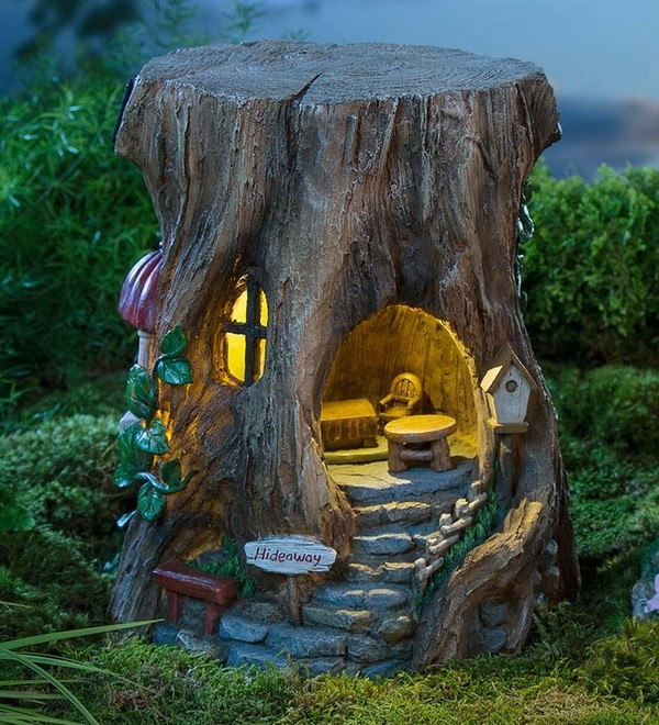 15 excellent tree trunk ideas to decorate your garden for How to buy art for your home