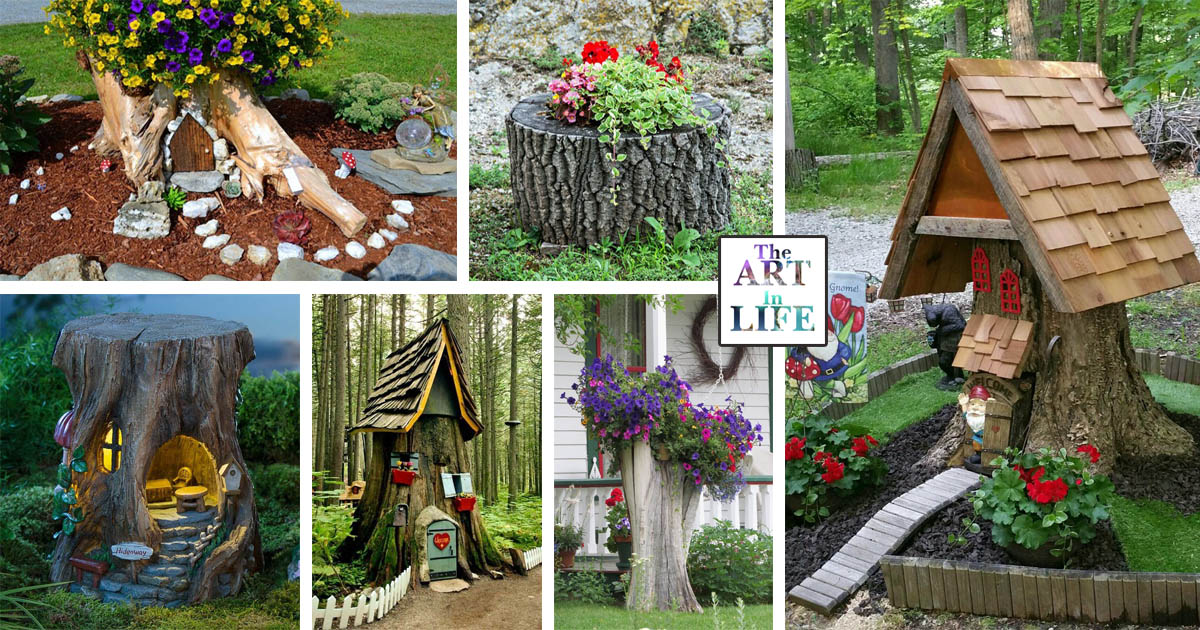 15 Excellent Tree Trunk Ideas To Decorate Your Garden The Art In Life