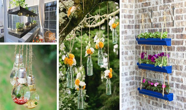 15 incredible diy hanging decorations for your garden that will amaze you - Garden Hanging Decorations