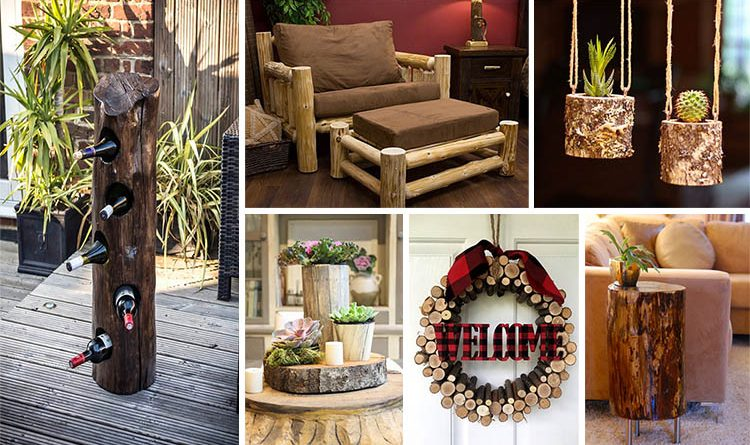 18 Amazing DIY Log Ideas To Have Rustic Decor To Your Home