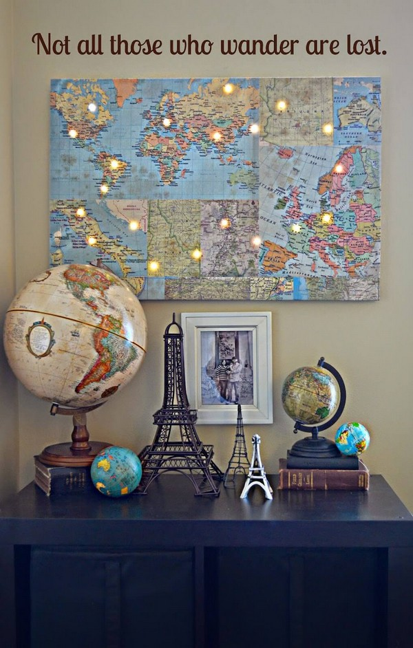 Lovely DIY Travel Inspired Home Decor Ideas To Bring a Feeling of Wanderlust to Your Home - The ...