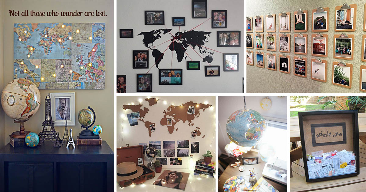 Lovely Diy Travel Inspired Home Decor Ideas To Bring A