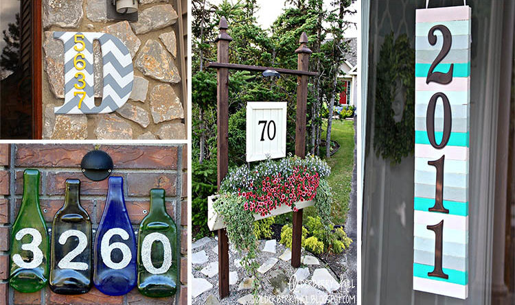 Amazing diy house number ideas that are easy to create for Number 16 house