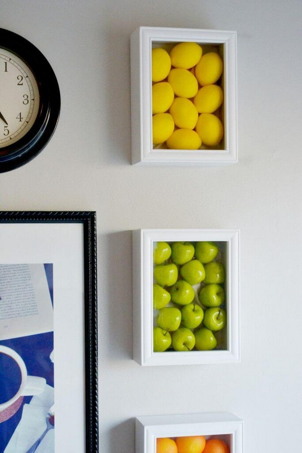 Exceptional DIY Faux Produce Shadow Boxes Amazing Pictures