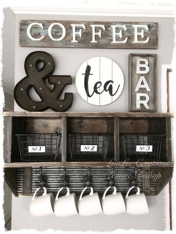 DIY Coffee And Tea Bar