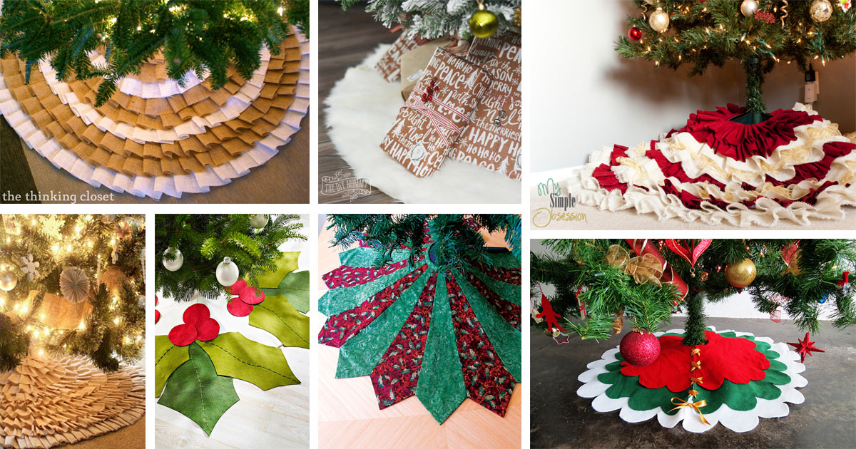 20 Absolutely Stunning Diy Christmas Tree Skirt Ideas The Art In Life