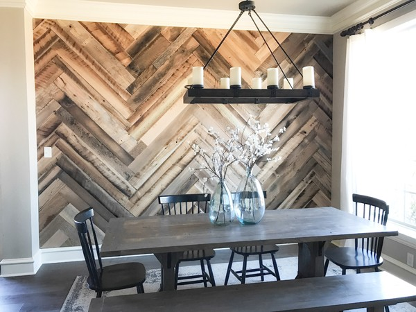 Reclaimed Barn Wood Herringbone Wall Diy Ideas