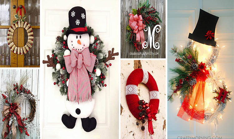 Christmas wreath that will make your door charming and unique for the holidays the art in life - Admirable christmas wreath decorating ideas to welcome the december ...