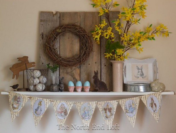 Rustic Easter Decorating