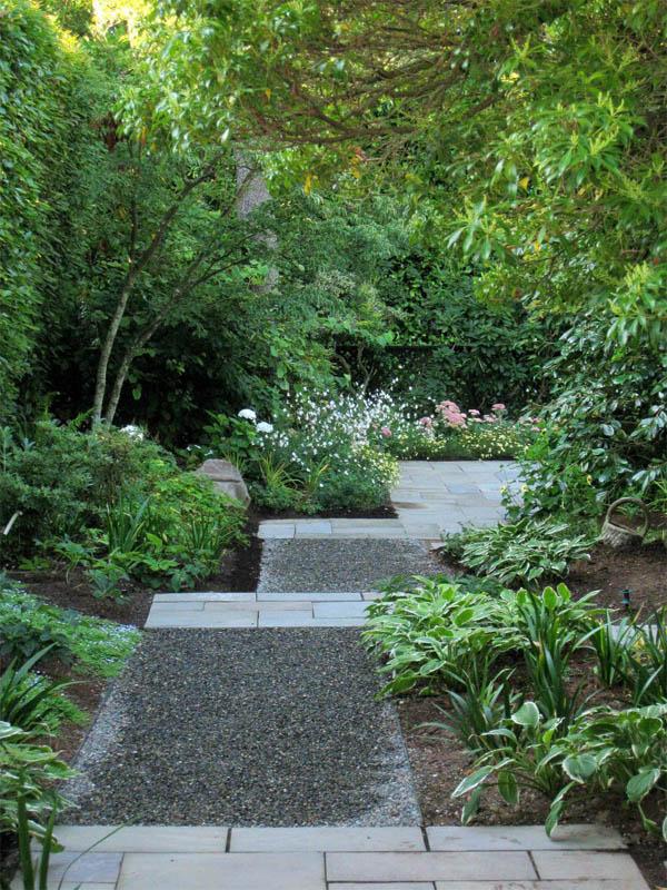 15 Eye-Catching Garden Path Ideas With Stepping Stones ... on Backyard Walkway Ideas id=78008