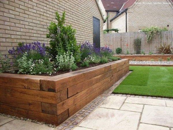 17 Fascinating Wooden Garden Edging Ideas You Must See ... on Wooded Backyard Ideas id=70005