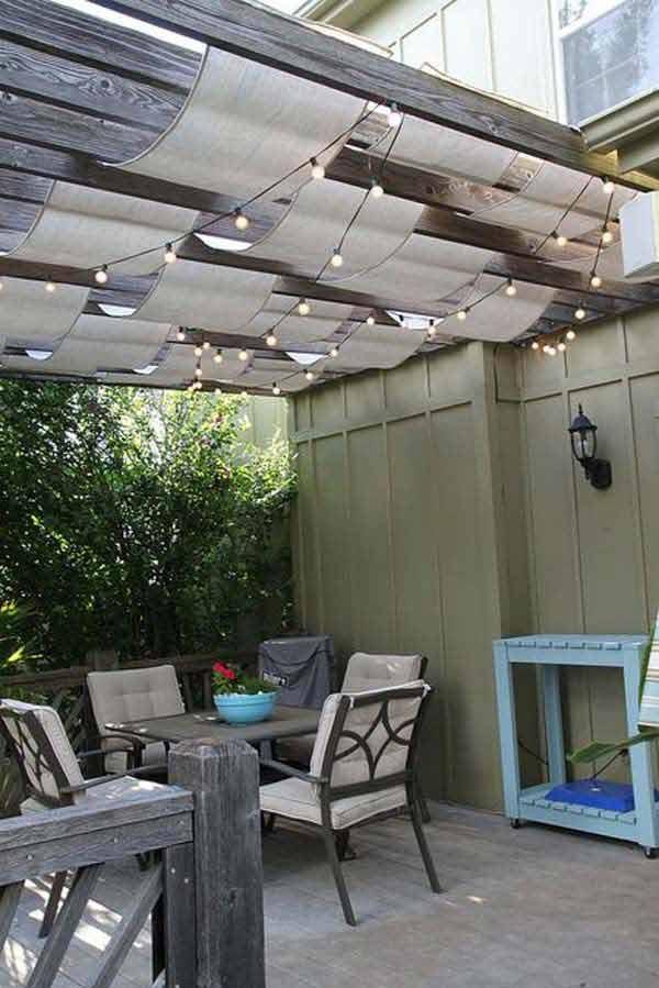 16 Easy DIY Backyard Sun Shade Ideas for your Backyard or ... on Shade Ideas For Backyard id=68562