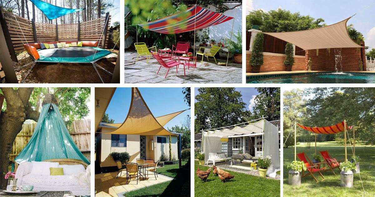16 Easy DIY Backyard Sun Shade Ideas for your Backyard or ... on Shade Ideas For Backyard id=44677