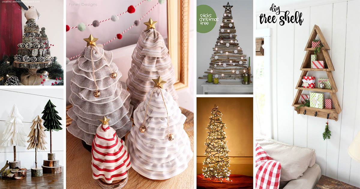 Creative And Interesting DIY Christmas Tree Ideas For A